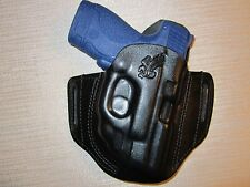S&W M&P SHIELD 9MM & 40  WITH RED CT LASER GUARD pancake owb belt holster