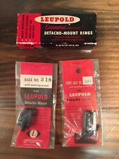 Leupold Detacho-Mount Base And Ring Set For Mauser, Small Ring Military - N.O.S.