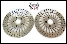 HARLEY FRONT BRAKE DISC ROTORS Roadking Streetglide 2000-2007 Polished