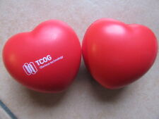 """ TCOG ""  Anti-Stress-HANDTRAINER / Anti-Stress-Ball  als "" HERZCHEN "" rot"