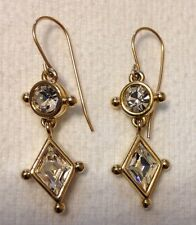 Gloria Vanderbilt crystal earrings