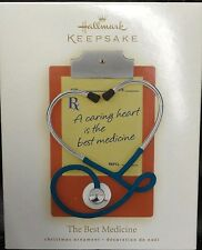 NIB 2008 THE BEST MEDICINE HALLMARK KEEPSAKE CHRISTMAS ORNAMENT STETHOSCOPE