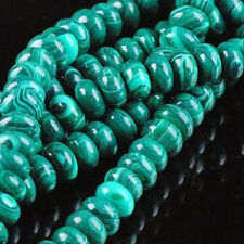 5X8MM Green Malachite Gemstone Abacus Loose Beads 15""