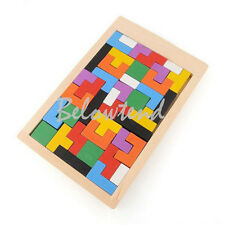 Tangram Brain Teaser Puzzle Tetris Game Children Creative Wood Educational Toy