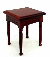Dolls House Mahogany Family Room Side End Table Miniature Living Room Furniture