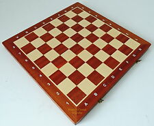 NEW MADON TOURNAMENT NUMBER 5 FOLDING WOODEN CHESS BOARD 48CM