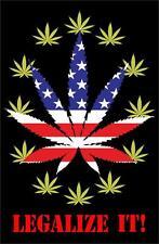 LEGALIZE IT - WEED POSTER - 24x36 MARIJUANA POT SMOKING USA FLAG 759