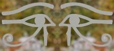 Egyptian Eye of Horus Ra Thoth talisman etched glass pair vinyl decals sticker