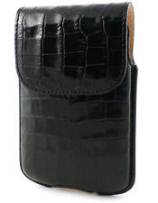 Etui cuir Croco noir vertical Blackberry 8520 Curve 3G  9700