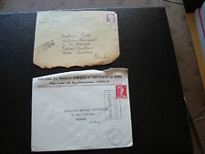 FRANCE - 2 enveloppes 1957/1960 (cy87) french