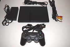 Black Sony Playstation 2 PS2 Slim Console System Complete + Free Game SCPH-70001