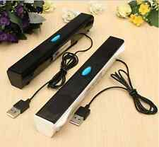 NEW USB POWERED MULTIMEDIA SPEAKER COMPUTER LAPTOP TABLET DVD MP3 PLAYER