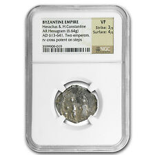 Byzantine Silver of HeracIius & H.Const. (613-641 Ad) Ngc-Vf