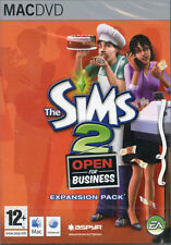 THE SIMS 2 Open For Business EXPANSION PACK Mac OS 10.3.9 GIOCO NUOVO E SIGILLATO