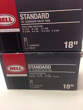 """2X 18"""" Bell Bicycle Tire Tube w/Schrader Valve Free Shipping for Two Tubes"""