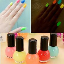 Glow in the Dark Neon Fluorescent Nail Polish HGarnish Luminous Paint 12color SD