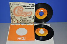 """7"""" 2x CHICAGO Baby, what a big surprise If you leave me now Vinyl Single"""