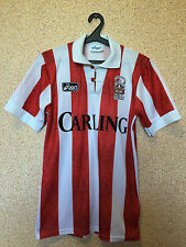 RARE STOKE CITY ENGLAND 1994/1995 HOME FOOTBALL SHIRT JERSEY MAGLIA ASICS