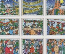 Belgium**CHRISTMAS&NEW YEAR 1998-9vals from SHEET-SANTA CLAUS-Père Noel-Kerstmis
