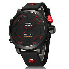 OHSEN AD2820 Big Dial Waterproof Silicone Quartz Sport Watch