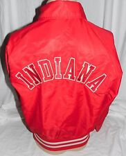 Vintage Satin Indiana Hoosiers Red Jacket Men's Medium Retro Basketball Awesome