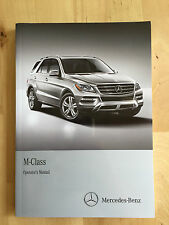 New Mercedes English Owner's Manual ML350 BT, ML550 & ML63 AMG 4 Matic 2012-15