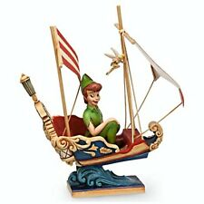 NEW Disney Traditions Jim Shore SHOWCASE Figurine Peter Pan's Flight ATTRACTION