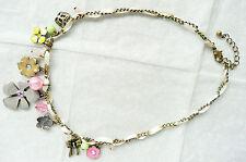 Collana in oro Accessorize – BELLISSIMI COLORI _ FIORI, farfalle e perle-NUOVO