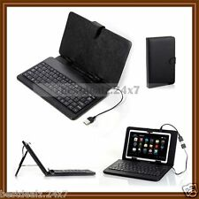 "New 7 "" inch Tab Phone Universal PU Leather Keyboard Cover Case with Stand"