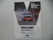 advertising Pubblicità 1980 FORD ESCORT RALLY GR1