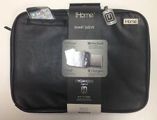 Brand new iHome Smart Sleeve laptop tablet phone Black case Ipad Macbook ip