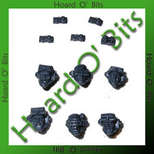 WARHAMMER 40K BIN BITS SPACE MARINE SCOUT SNIPERS - 6x HEADS with NIGHT GOGGLES