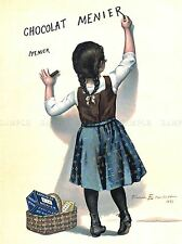 Publications France Chocolate Food Kitchen CHOCOLAT MENIER poster print lv374