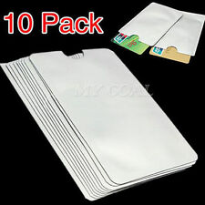 10 RFID Secure Sleeve Credit Card Holder Blocking Protector Case Shield Envelope