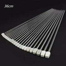Set of 22pcs 36CM Single Pointed Stainless Sewing Knitting Needles Case 2mm-8mm