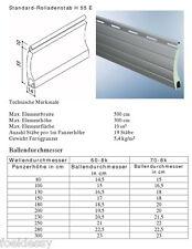Rolladen Ersatz Lamellen Maxi Maßanfertigung Aluminium grau Breite 130 cm