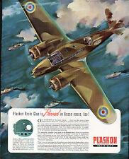 1942 PLASKON RESIN GLUE & WHITE MOTOR CO ADS- AVRO ANSON