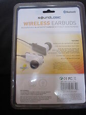 EARBUDS / EARPHONES WIRELESS BLUETOOTH RECHARGEABLE  SOUNDLOGIC (White) 1Pair