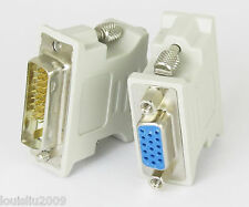 1pc DVI-D Digital Dual Link male 24+1 to VGA D-sub 15 pin female adapter