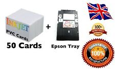 Inkjet PVC ID Card Starter Kit - Epson P50,T50,L800,T60,  PVC Cards & Card Tray