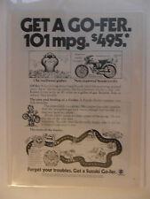 1976 Print Ad Suzuki Go-Fer Gopher Moped Motorcycle Mini Bike ~ 101 mpg