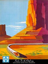 Santa Fe The Chief Way New Mexico United States Travel Advertisement Art Poster