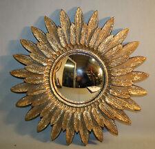 Glace / miroir soleil plume avec oeil de sorcière Diamètre 32 cm