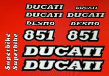 DUCATI 851 MODEL  PAINTWORK DECAL KIT