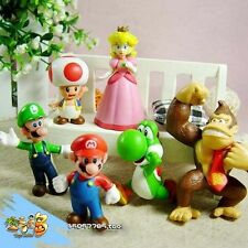 Lot 6 Super Mario bros mini figures Figurine Toy Doll