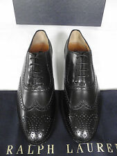 NEW RALPH LAUREN Ladies Black Leather Brogue Lace-up SHOES Quintin UK 5 EU 38