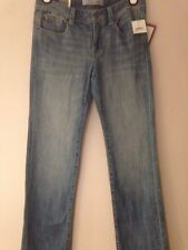 NWT JOE FRESH STYLE BOOT CUT COUPE SEMI-EVASEE LIGHT WASH JEANS SZ 6 L32