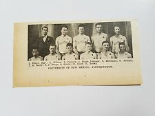 University of New Mexico Albuquerque 1930-31 Basketball Team Picture
