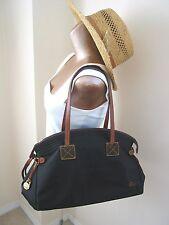 Dooney & Bourke Large Black Nylon Shoulder Hand Bag Tote Purse Leather trim EUC!
