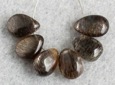 Natural Flashing Moss Moonstone Smooth Polish Pear Briolette Gemstone Beads 007